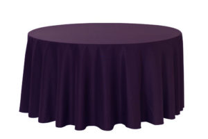 120 Inch Round Tablecloths Eggplant