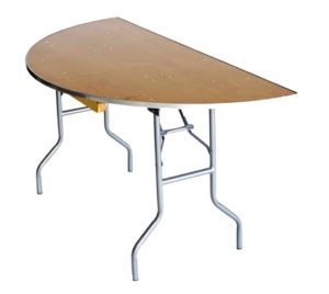 "60?-Half-Round-?H eavy-Duty""-Plywood-Banquaet-Table-Metal-Edge-21"