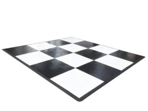 Black and White Dance Floor (Any Size)