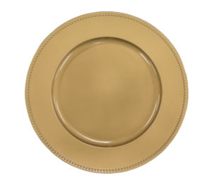 Charger Plates Beaded - Gold