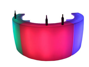 Glow Led Curve Bar Double Top (6.5 ft.)