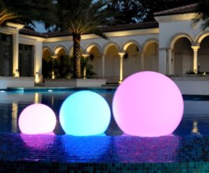 Glow Spheres - Set of 5 (Water Proof)