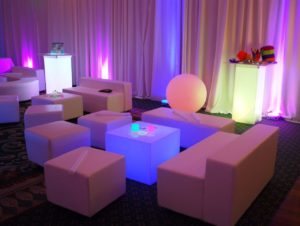 Lounge Furniture - Tropical Love Sofa, Ottoman, Rectangular Bench & Glow Led Furniture
