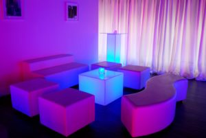 Lounge Furniture - Tropical Love Sofa, Serpentine Curve Sofa, Ottoman & Glow Led Furniture