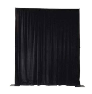 Pipe and Drape (12 ft. Max. height - any length) - Black