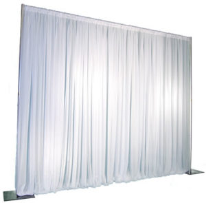 Pipe and Drape (12 ft. Max. height - any length) - White