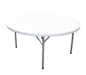 Round-plastic-table-60-Outdoors