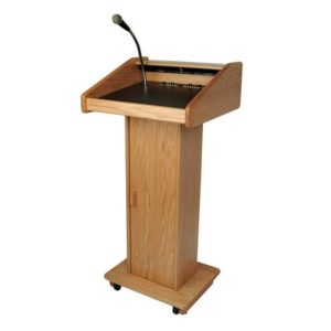 Wood Podium W:Sound System